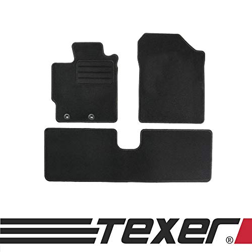 CARMAT TEXER Textil Fußmatten Passend für Toyota Yaris III Bj. 2014- Basic