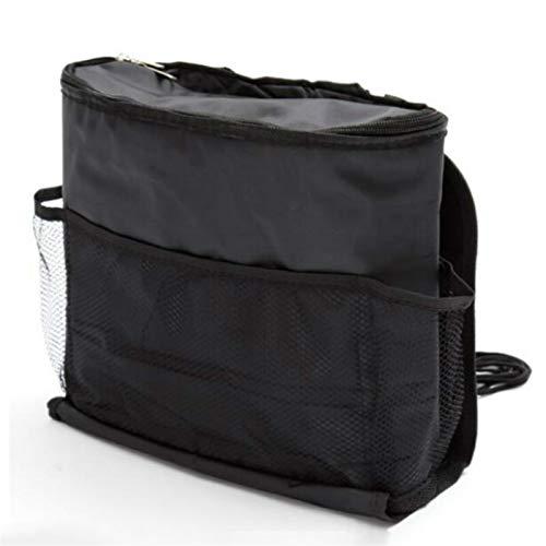 Kun yi Atrás Sillón trasero Multi-bolsillo Paquete de hielo bolsa de colección Organizador Colector Caja de almacenamiento Coche Accesorios interiores de automóvil Black Stow Stowing Ordering está bie