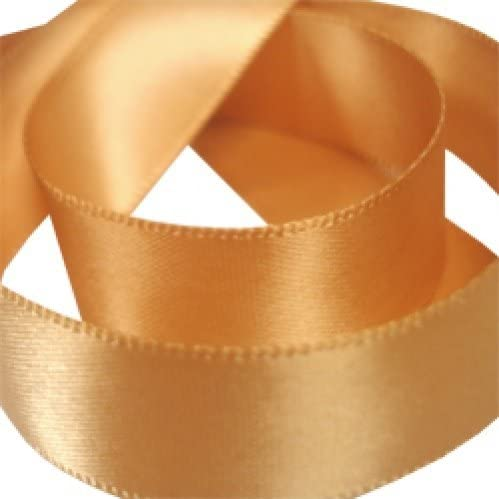 Satin Ribbon Old Gold Double Faced Satin 1-12 inch  By The Yard
