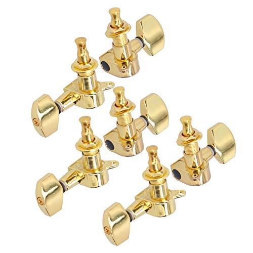 Sintonizadores de cabezales de máquina prácticos, duraderos para guitarristas(Golden)
