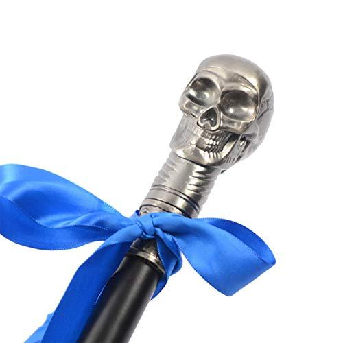 MALY Cráneo Caminando bastón, Vintage Vestido de Lujo cráneo para Hombres, Bastones Decorativos de Halloween