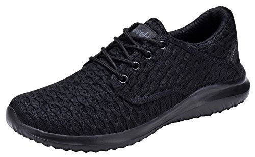 COODO Women's Athletic Shoes Casual Breathable Sneakers CD7003 (8 M US,All Black)
