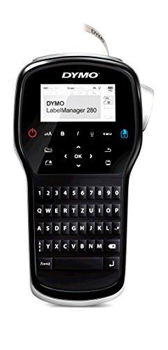 Dymo LabelManager 280 Tragbares Beschriftungsgerät | Wiederaufladbares Etikettendrucker mit QWERTZ Tastatur | PC/Mac Schnittstelle