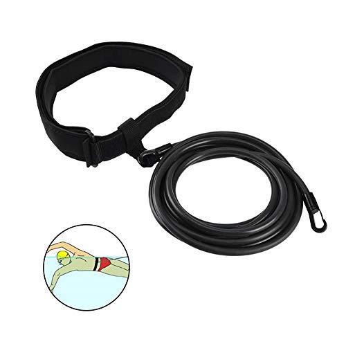 JXE Cinturón de resistencia a la natación, correa para entrenamiento de resistencia, arnés para entrenamiento de piscina, para adultos, niños, Pro, uso aficionado, negro