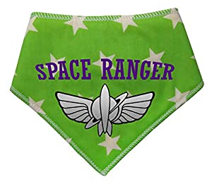 Spoilt Rotten Pets Space Ranger Buzz Lightyear Bandana pour Chien Motif étoiles Vert Citron