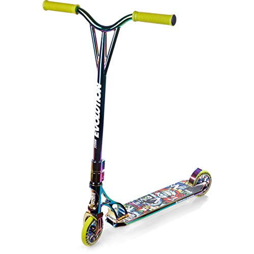 RAVEN Stunt/Freestyle Scooter, Roller, Tretroller, Cityroller Evolution Code 120mm (Neochrome)
