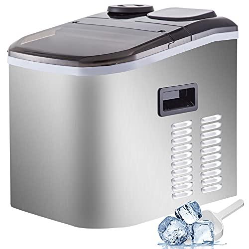 GIOEVO 18KG Ice Maker Macchina per Ghiaccio in ABS 220V Macchina per Fabbricare Ghiaccio da Banco 40LBS Macchina per Ghiaccio da Banco per Cucina Bar da Casa