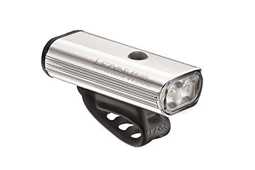 LEZYNE Power Drive 1100 Polish Bike Light, Silver/Hi Gloss, One Size