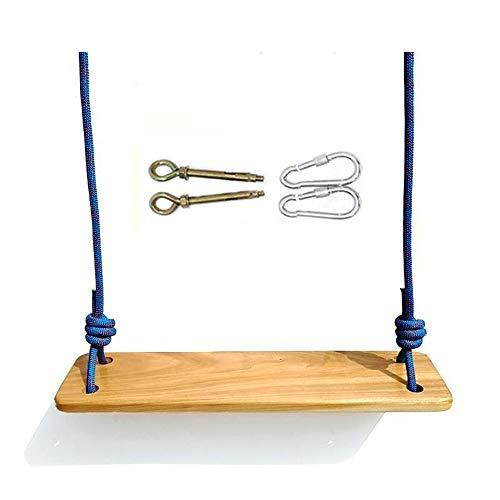 Q-L Hook houten panelen outdoor schommel for de kinderen schommel touw volwassen sportfaciliteiten Gemakkelijk Double (Color : Blue)
