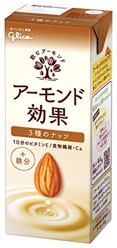 グリコ アーモンド効果 3種のナッツ アーモンドミルク 200ml×24本 常温保存可能