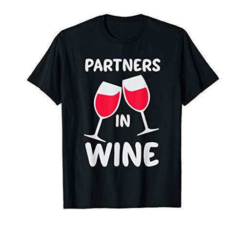 Partner In Wein Lustig, Niedlich, Rot, Weiß Wein-Liebhaber T-Shirt
