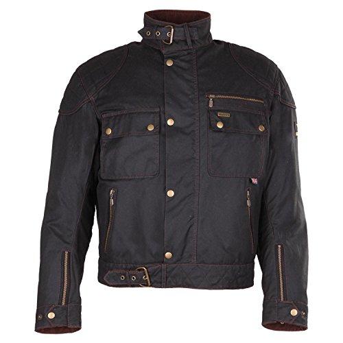 Modeka LAXEY Wachsjacke Textiljacke - schwarz Größe S