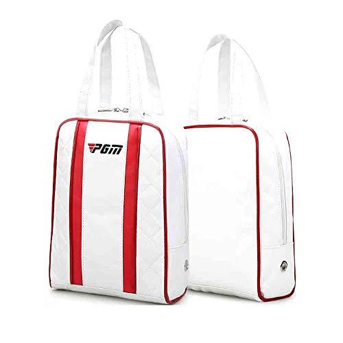 Mhwlai Golfschuhbeutel, tragbare Einkaufstasche der Damen PU-Schuhbeutelart und weise von der Stange liefert wasserdichte Golfschuhbeutel-Minibeutelreisetasche,B