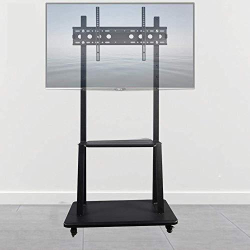 WYJW Tornillos de Acero Inoxidable para Soporte de Suelo de TV para televisores de 32 a 65 Pulgadas, Soportes de Suelo universales Negros para TV con Ruedas Ruedas de hasta 100 kg de al
