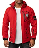 Geographical Norway Chaqueta Softshell para hombre. rojo S