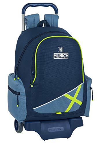 Safta 612098313 Mochila Escolar con Carro 905 de Munich Lima, 320x170x430mm