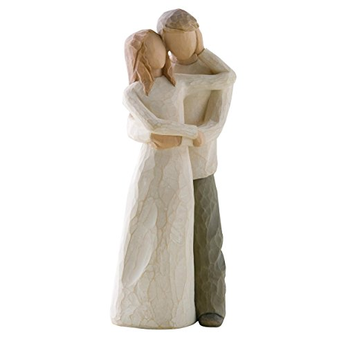 Willow Tree 26032 Figur Zweisamkeit, 3,8 x 3,8 x 22,9 cm