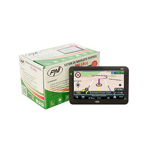 Sistema de navegación GPS PNI L805 Pantalla de 5 Pulgadas, Mapa de Europa Mireo Don't Panic + Life actualizaciones de mapas
