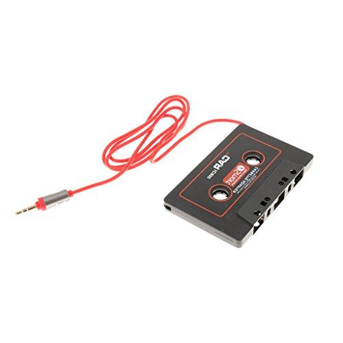 B Blesiya Transmisor de Radio de Coche con Adaptador de Casete de Coche IC800 Macho de 3,5 Mm para Reproductor de CD MP3