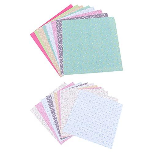 TOYANDONA 2 paquetes de 144 hojas de papel para origami de doble cara, cuadradas para proyectos de manualidades (patrón floral)