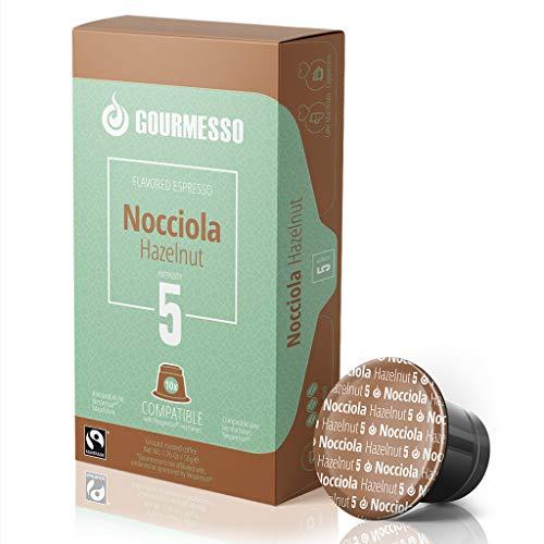 Gourmesso Nocciola (Haselnuss) - 30 Nespresso kompatible Kaffeekapseln - Fairtrade