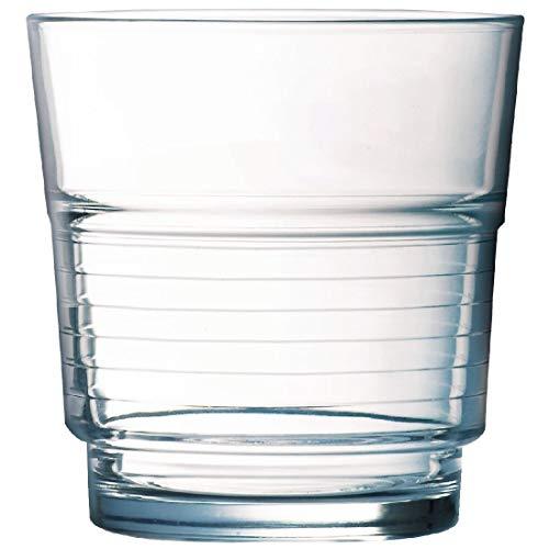 Vaso apilable en espiral FB25, 250ml, 6 vasos de Arcoroc