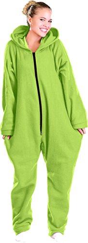 PEARL basic Fleece Overall Herren: Jumpsuit aus flauschigem Fleece, grün, Größe XXL (Jumpsuit Herren Fleece)