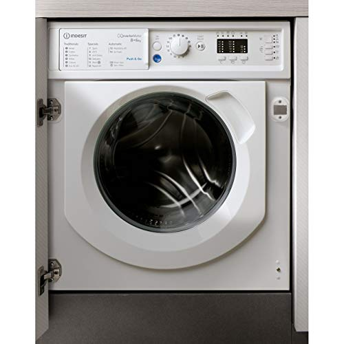 Indesit BIWDIL861284 8kg Wash 6kg Dry Integrated Washer Dryer With Quiet Inverter Motor