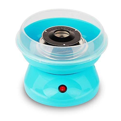 Coton Candy Maker - Sucre fait maison, sans sucre, fil de sucre ou machine à papa Coton de coton, mini-coton portable Coton Girl Garçon Journée des enfants (Couleur: Brown) Jialele (Color : Blue)