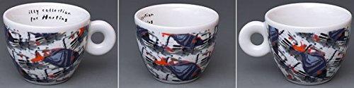 illy collection Espressotassen 1995 Nam June Paik (Videogrammi) - 6er Set komplett