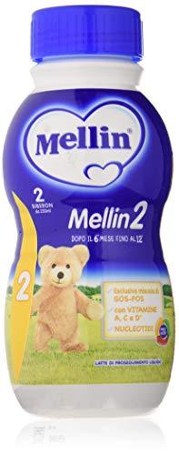 Mellin Latte 2 Liquido - Confezione da 12 Bottiglie x 500 ml