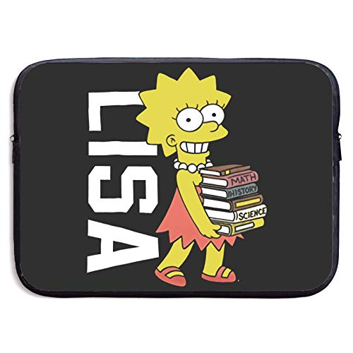 Simpson Laptop Bag 15 Inch Sleeve Case Neoprene Protective Case/Notebook Computer Pocket Case/Tablet Briefcase Carrying Bag Compatible/Soft Carrying Zipper Bag 13 Inch