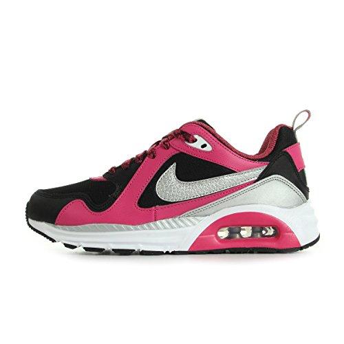 Nike Damen Air Max Trax (Gs) Low-Top, Schwarz (Black/Metallic Silver-White-Vivid Pink), 36.5 EU