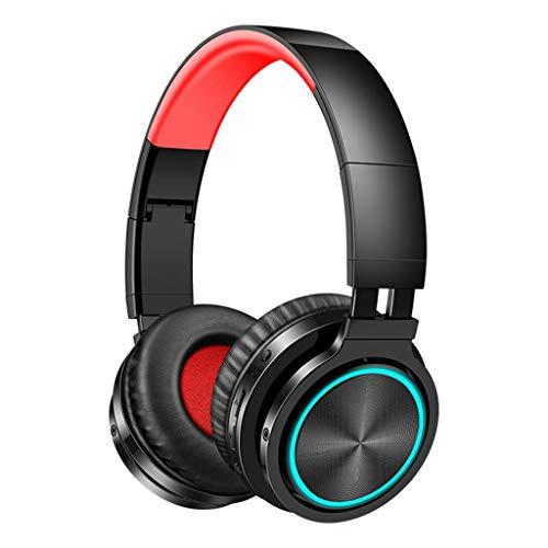 Desconocido Generic Estéreo Great Bass Headset Headset Ligero para TV Computadora Celular - Negro Rojo