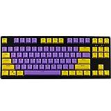 keycaps 61/87 Teclas OEM Height PBT KEYCAP Rubber keycaps (Color : 87 Keys)