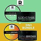 Byrokko SHINE BROWN - Crema aceleradora de bronceado (190 ml, 190 ml), color marrón y crema hidratante para el sol al aire libre, 200 ml, ingredientes naturales.