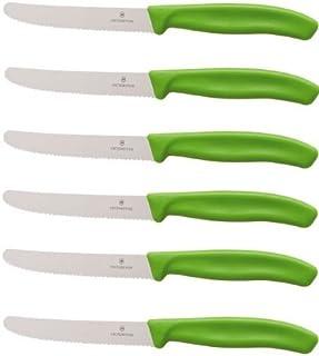 Victorinox - Juego de Cuchillos de Mesa (6 Unidades), Mango de Color Verde