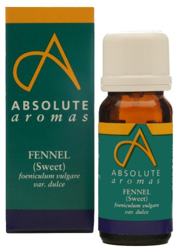 Absolute Aromas Fennel, Sweet (foeniculum valgare var dulce) Essential Oil 10ml - 100% Pure, Natural, Undiluted and Cruelty-Free - For use in Diffusers and Aromatherapy Blends