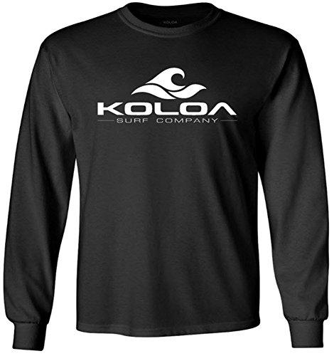 Koloa Classic Wave Youth Long Sleeve Heavyweight Cotton T-Shirts Jet Black Black Youth Heavyweight T-shirt