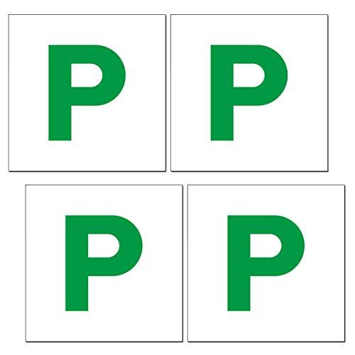 P Board, 4Packs Volledige Magnetische Groen P Stickers voor Nieuwe Bestuurder Auto Bumper Juridisch Logo
