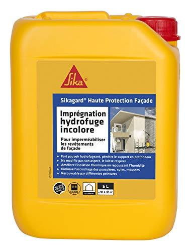 Sika Sikagard 460393-5L–Garrafa de impermeabilizador de alta protección para fachadas (5l)