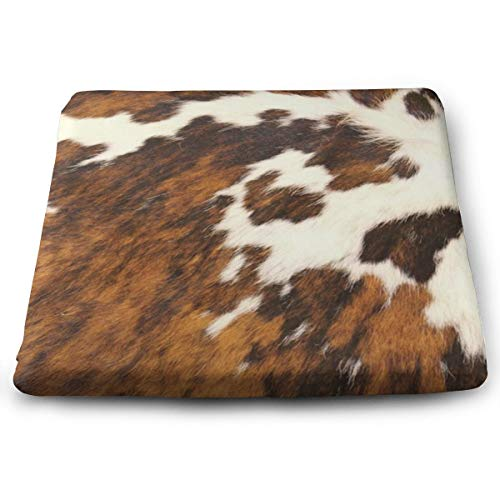 """Capisinz Square Cushion for Chair Red and White Cowhide Printed Seat Cushion Memory Foam Seat Cushion Office Chair Cushion and Wheelchair Cushion Comfortable Chair Pad Size15 X13.7""""X1.2"""""""