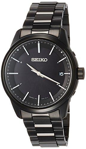 [セイコーウォッチ] 腕時計 セイコー セレクション ベーシックソーラー電波 ステンレスモデル SBTM257 メンズ ブラック
