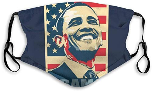 SHUIMITAO Obama Smile Propaganda Poster Pop Art Unisex Mouth-Muffle Face Bandanas Scarf Anti Dust Mouth