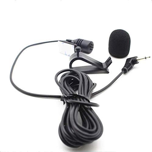 Micrófono de montaje de 3,5 mm con soporte de clip para la unidad principal del vehículo con Bluetooth, radio estéreo GPS DVD