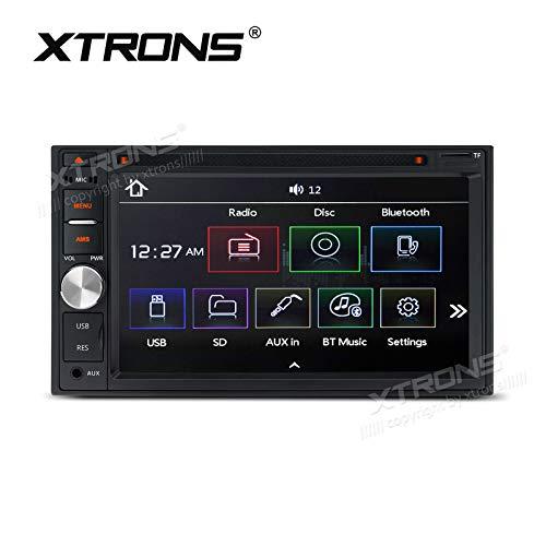 XTRONS Lecteur DVD double DIN 6,2 pouces numérique TFT écran tactile lecteur radio stéréo voiture prend en charge Bluetooth USB SD sortie Full RCA