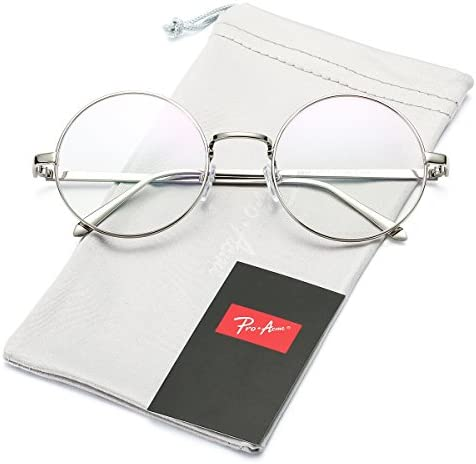 Silver circle glasses