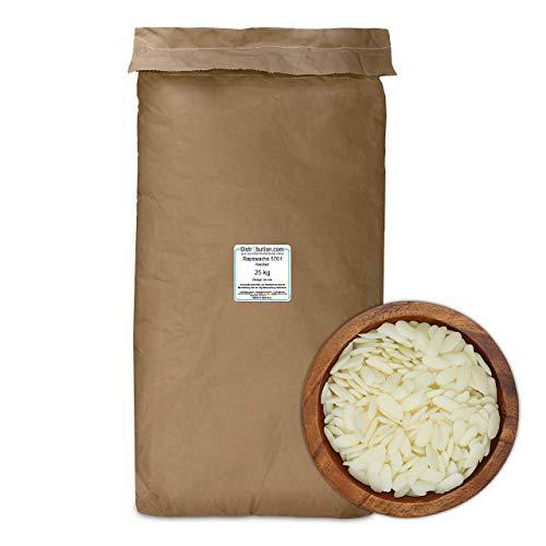 25 kg Rapswachs 57-61 °C in Pastillen, auf Naturbasis für Kerzen mit Ökowachs, Made in Germany