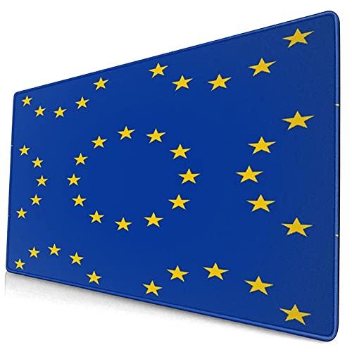 ERYIGH Bonita Alfombrilla para ratón,Bandera Abstracta de la Unión Europea,Alfombrilla Rectangular de Goma Antideslizante para Escritorio,Alfombrilla de Escritorio para Jugadores,15.8 'x29.5'