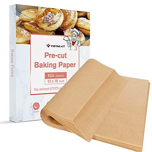400 Pcs Parchment Paper Sheets - 12x16 Inches Precut Parchment Paper For Baking Unbleached Parchment Paper & Cookie Paper Baking Sheets No Curl, No Tear, No Burn Baking Paper